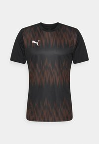 Puma - GRAPHIC CORE - Sports shirt - black/shocking orange - 0