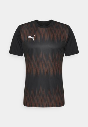 GRAPHIC CORE - Camiseta de deporte - black/shocking orange