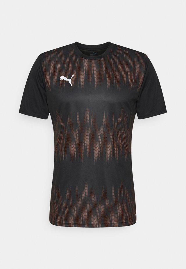 GRAPHIC CORE - Camiseta de deporte - black/shocking orange