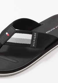 Tommy Hilfiger - SPORTY CORPORATE BEACH  - T-bar sandals - black - 5