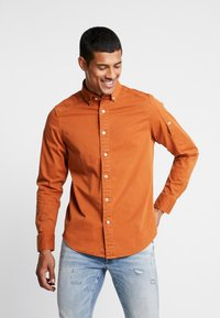 G-Star - STALT STRAIGHT BUTTON DOWN POCKET - Koszula - aged almond - 0