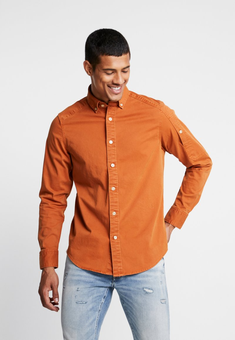 G-Star - STALT STRAIGHT BUTTON DOWN POCKET - Koszula - aged almond