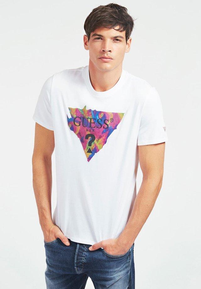 LOGODREIECK - Camiseta estampada - weiß