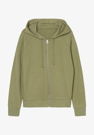 Zip-up hoodie - dried sage