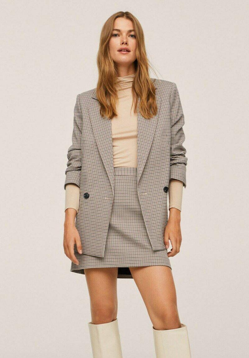 Mango - A-line skirt - marron