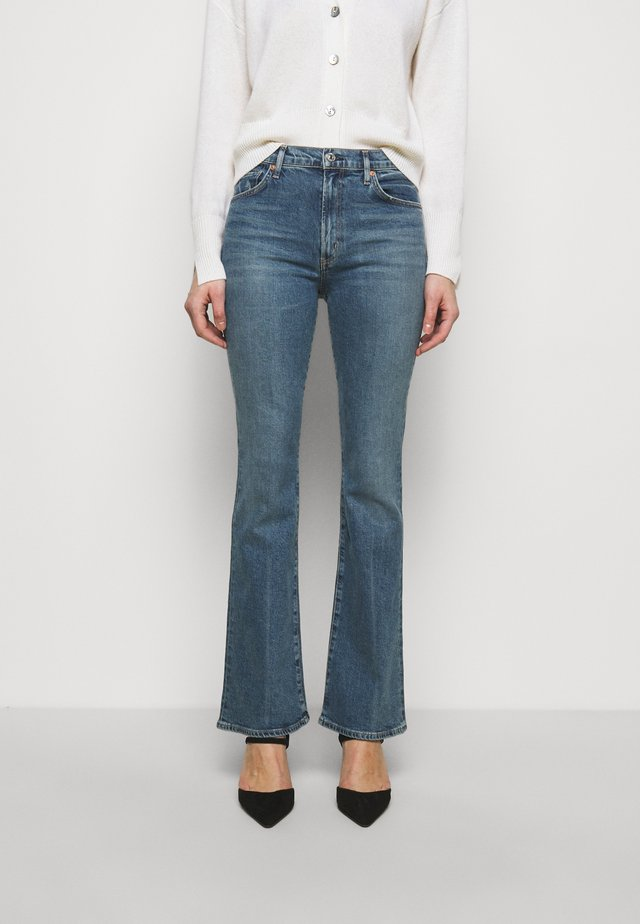 LILAH - Bootcut jeans - light blue