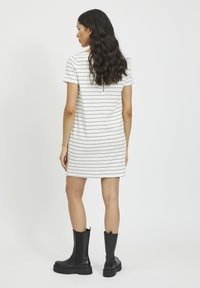 Vila - VITINNY - Jersey dress - snow white/total eclipse - 2