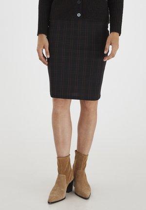 FRMECHECK - A-line skirt - black mix