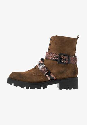LOREN - Kotníkové boty na platformě - cioccolato