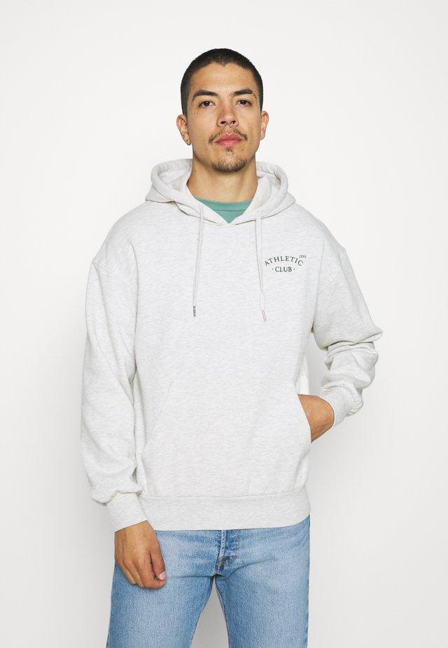 JORTOBIAS HOOD CHEST UNISEX - Sweatshirts - white melange