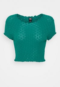 BDG Urban Outfitters - POINTELLE TEE - T-shirts med print - teal - 0