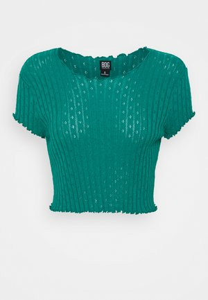 POINTELLE TEE - T-shirt con stampa - teal