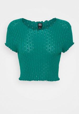 POINTELLE TEE - Camiseta estampada - teal