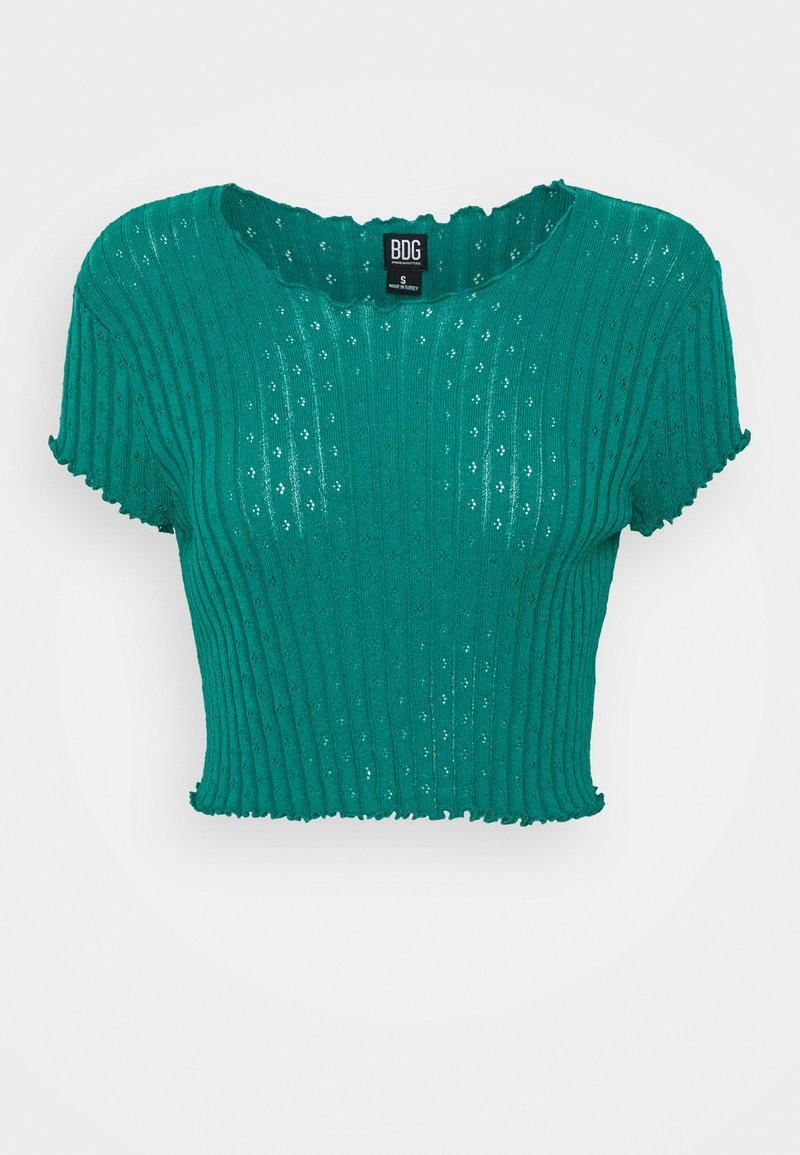 BDG Urban Outfitters - POINTELLE TEE - T-shirts med print - teal