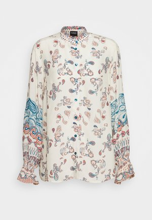 BLOUSE PATCHWORK PATTERN - Camisa - off white