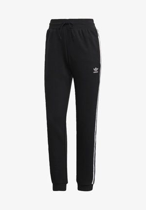 SLIM CUFFED JOGGERS - Tracksuit bottoms - black
