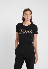 BOSS - TIBOSS - Print T-shirt - black - 0