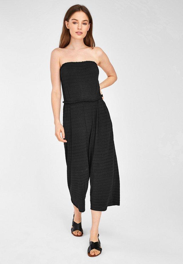 BLACK CRINKLE BANDEAU - Jumpsuit - black
