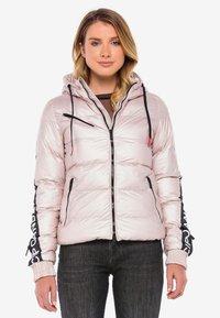 Cipo & Baxx - MIT WÄRMENDER KAPUZE - Winter jacket - pinksilver - 0