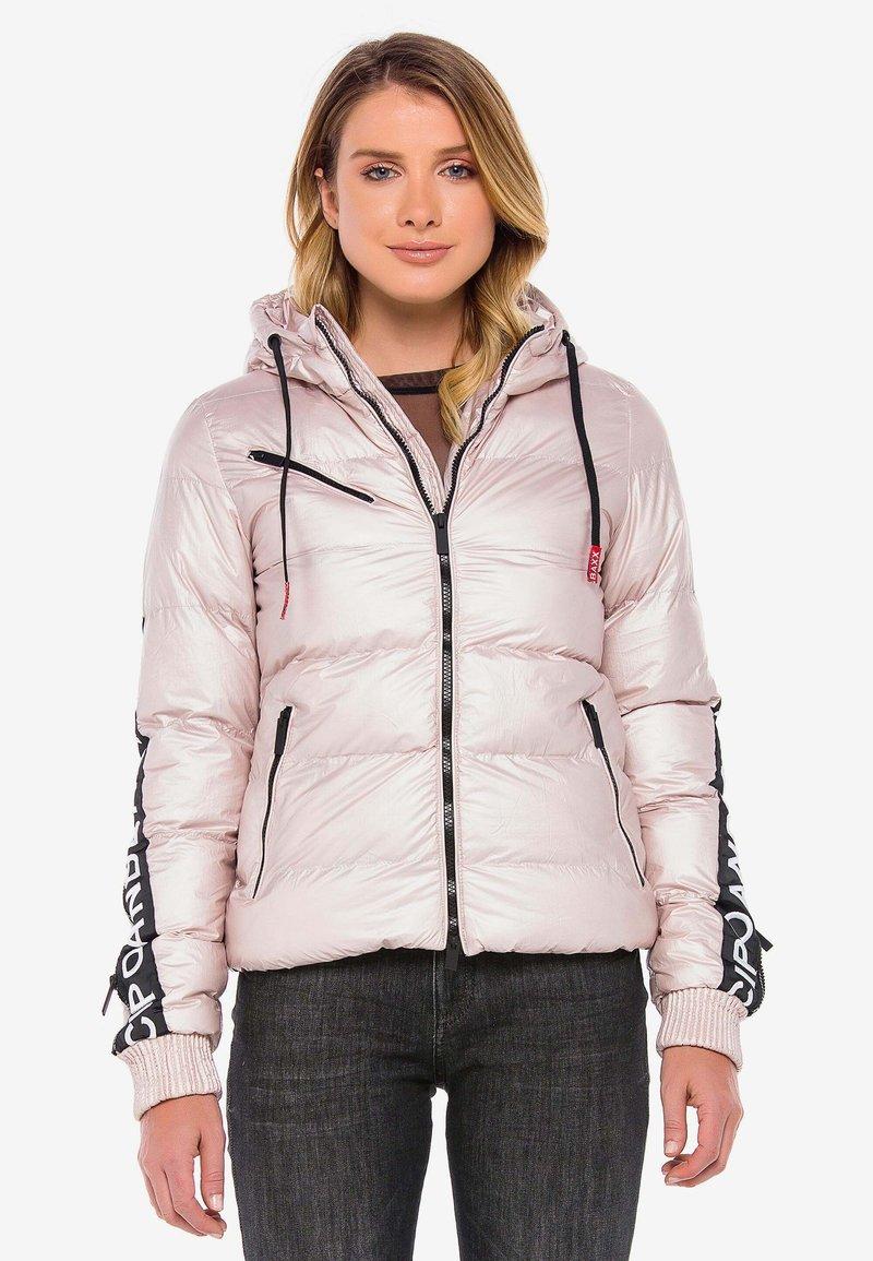 Cipo & Baxx - MIT WÄRMENDER KAPUZE - Winter jacket - pinksilver
