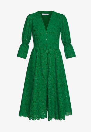 BROIDERY ANGLAISE DRESS - Day dress - secret garden green