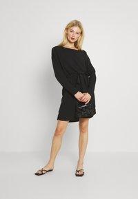 Vila - VISAY TIE BELT DRESS - Day dress - black - 1