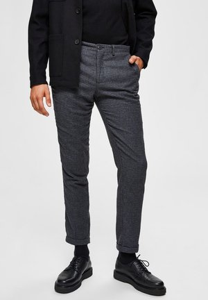 SLIM FIT - Trousers - medium grey melange