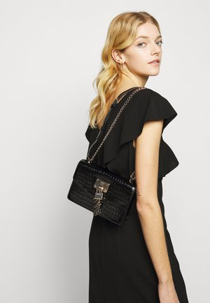 ELISSA SHOULDER - Across body bag - black/gold-coloured