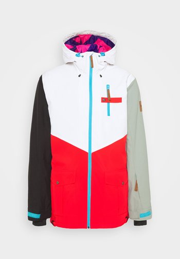 FRESH POW JACKET - Ski jacket -  white/red/black/grey