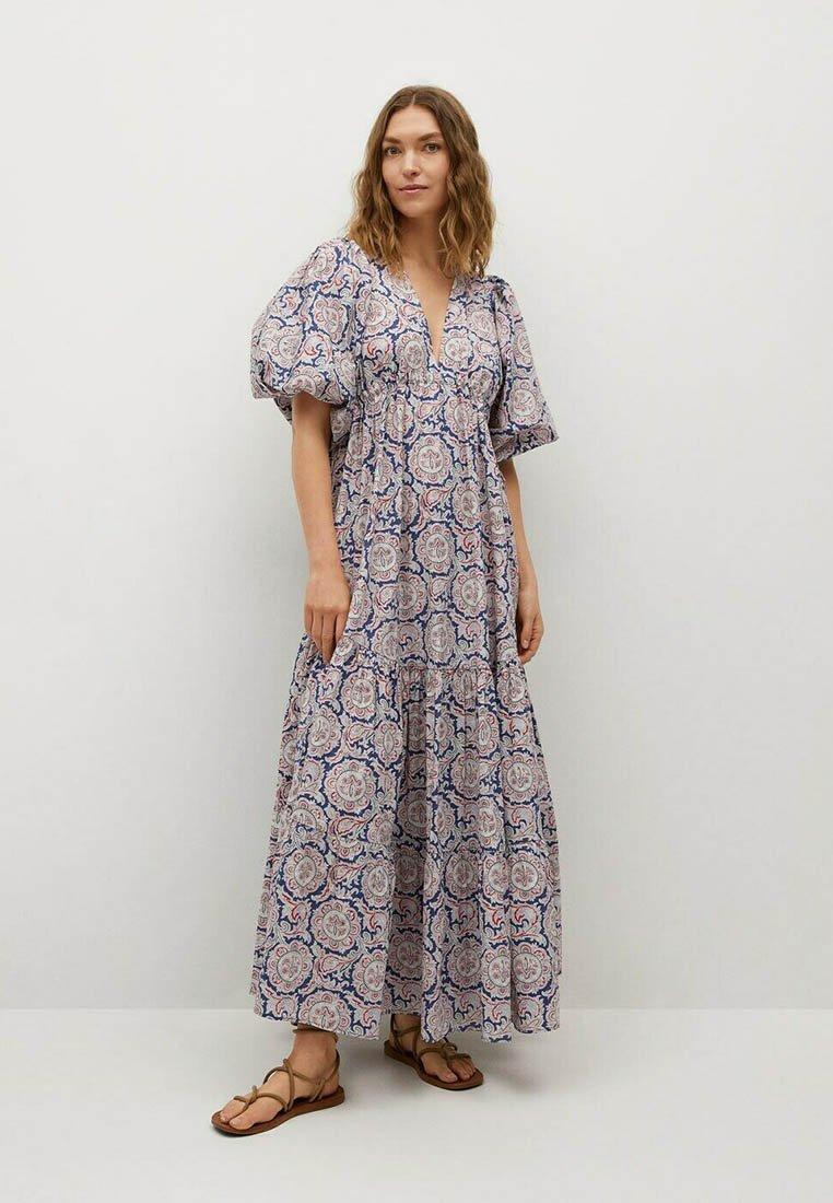 Mango - Długa sukienka - bleu