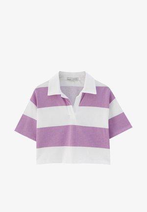 MIT BREITEN STREIFEN - Poloshirt - mottled pink