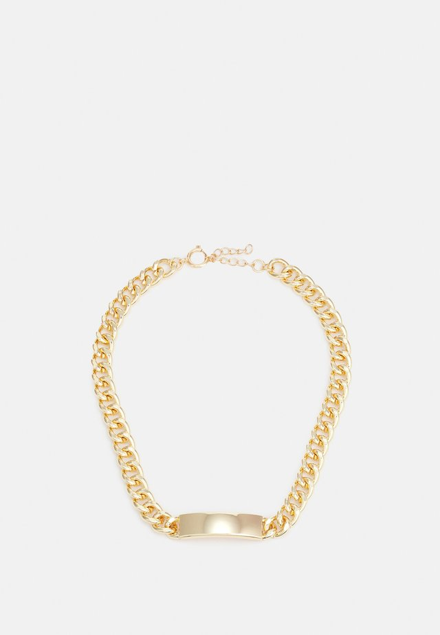 PLATE NECKLACE UNISEX - Necklace - gold-coloured