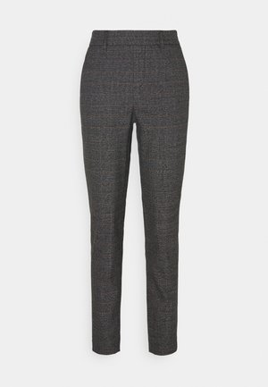 OBJLISA SLIM PANT - Trousers - black/chipmunk/white
