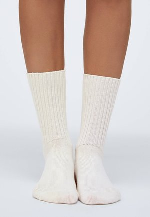 1 PAIR OF PLAIN - Socks - white