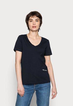 REGULAR SCRIPT  TEE - T-shirt basic - blue