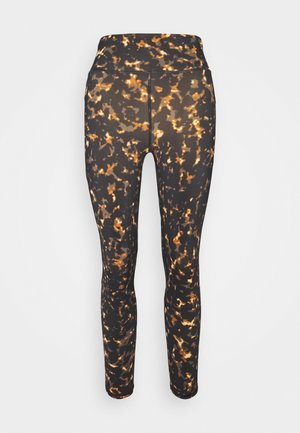 GRAVITY 7/8 RUNNING LEGGINGS - Punčochy - brown