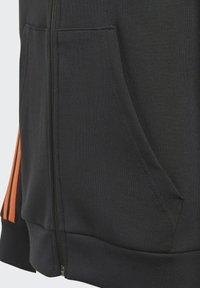 adidas Performance - STRIPES DOUBLEKNIT FULL-ZIP HOODIE - Training jacket - black - 3