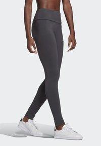 adidas Performance - LIN LEG - Leggings - dgsogr/clpink - 2