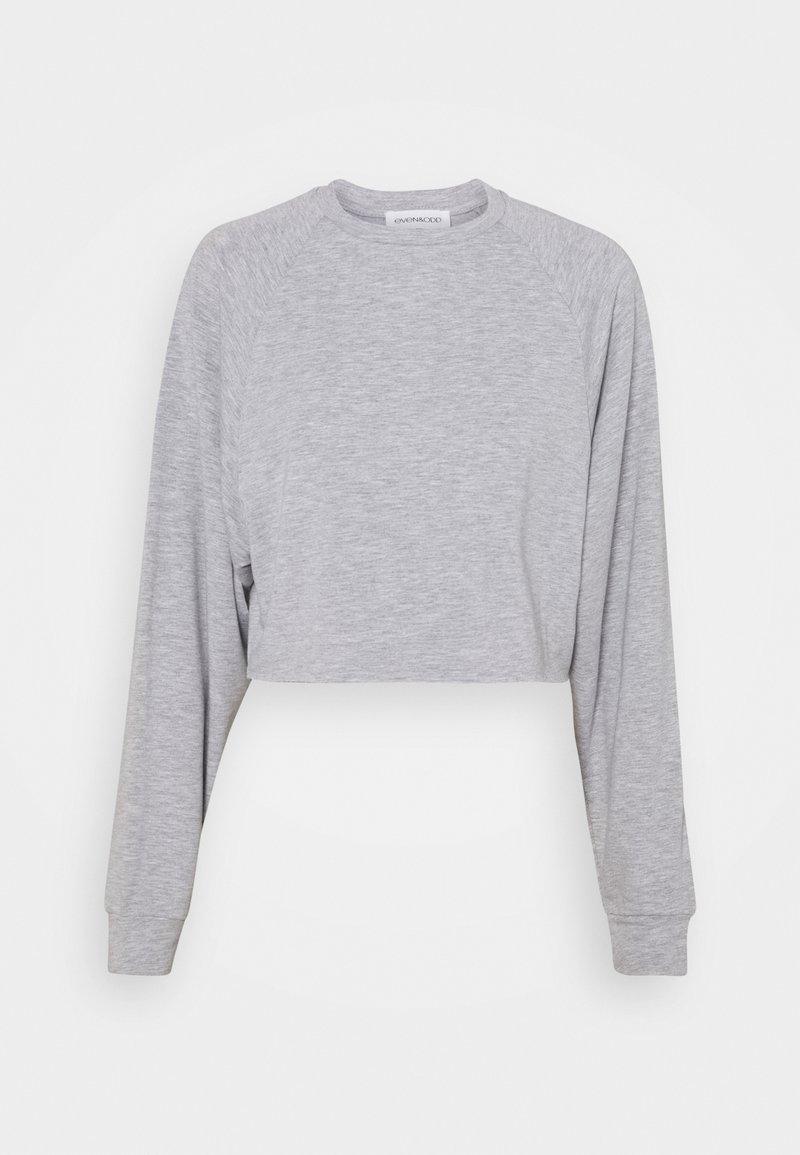 Even&Odd - BASIC - Raw hem - Sweatshirt - mottled light grey