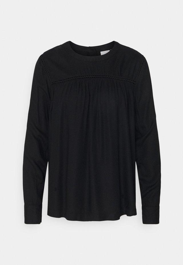 CATARINE - Blůza - black solid