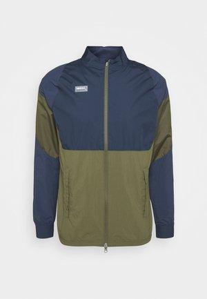 Training jacket - medium olive/thunder blue/clear