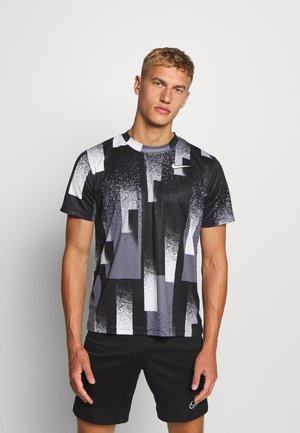DRY TOP - Print T-shirt - black/white