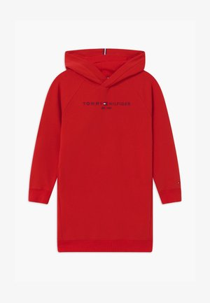 ESSENTIAL HOODED - Day dress - red