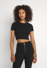 Even&Odd - 3 PACK - Basic T-shirt - black/white/khaki - 3