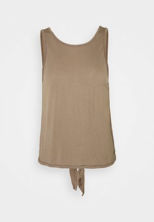 TIE BACK TANK - Top - taupe