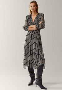 Massimo Dutti - Shift dress - black - 1