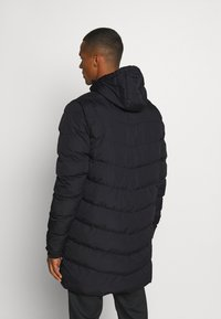 11 DEGREES - LONG LINE CHEVRON PUFFER - Winter coat - black - 2