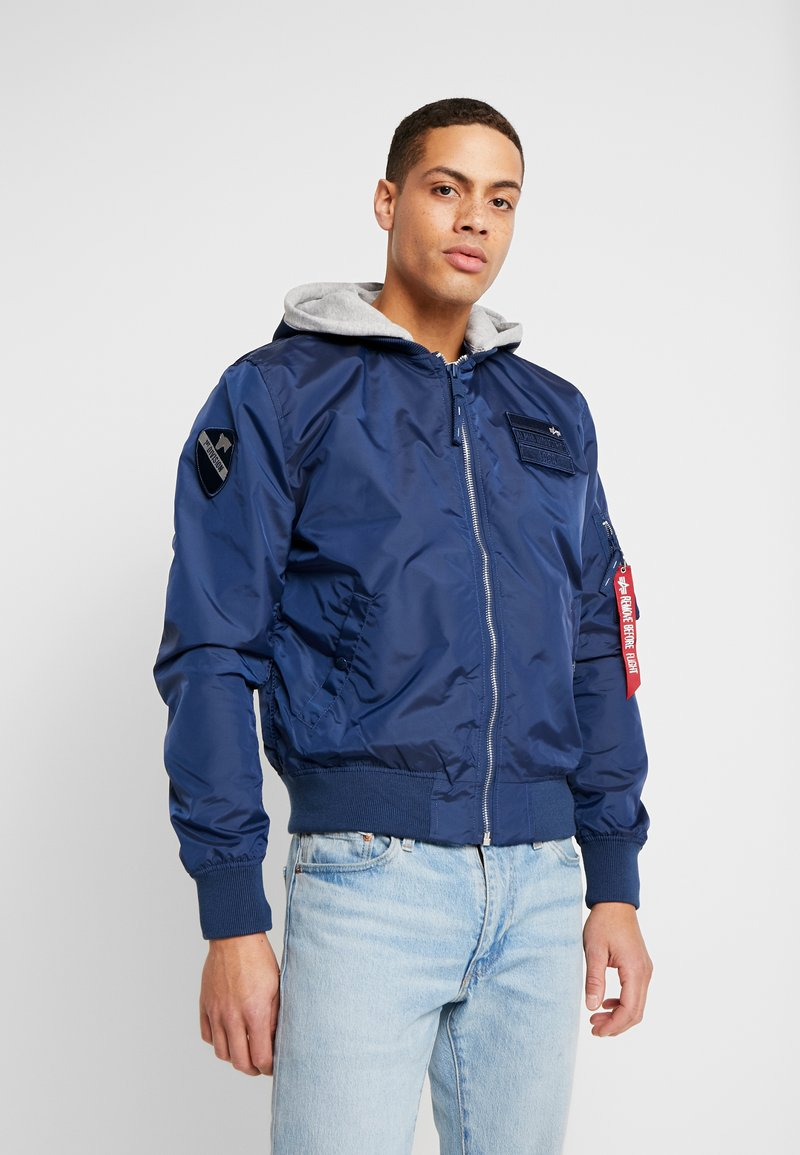 Alpha Industries - HOOD CUSTOM - Bomberjacka - new navy