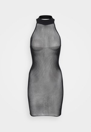 THE GLISTEN BOXED COVERED DRESS - Nattskjorte - black