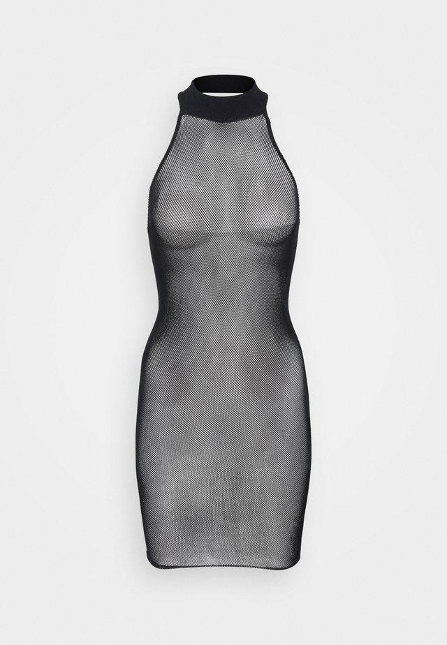 THE GLISTEN BOXED COVERED DRESS - Camicia da notte - black